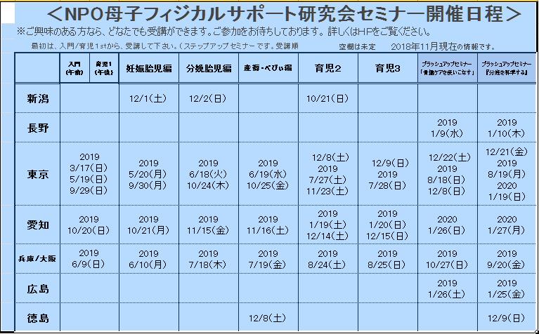 2019開催一覧更新